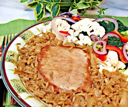 Pork and Rice in Mustard Sauce