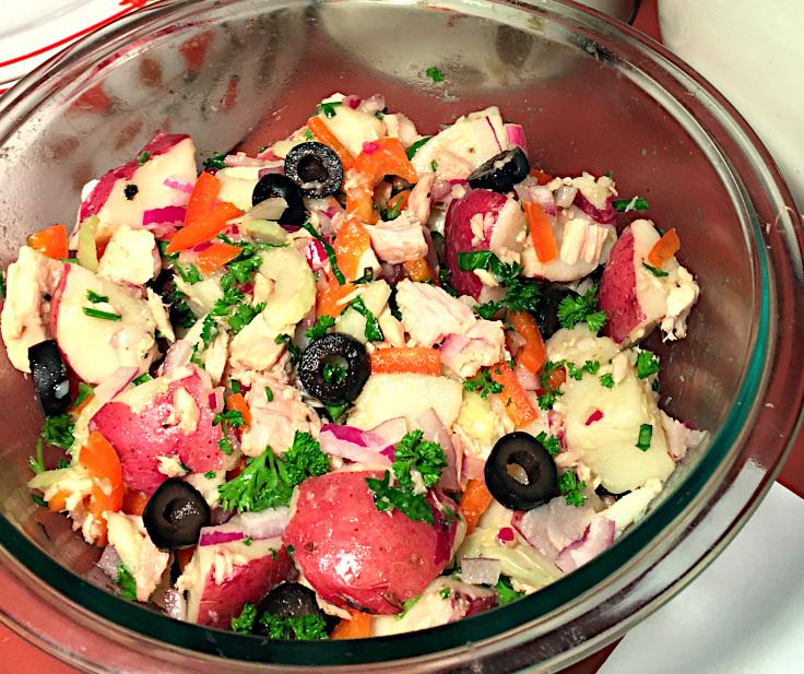 Potato Antipasto Salad with Tuna