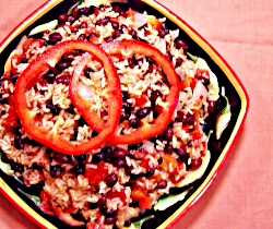 Red Rice and Black Beans