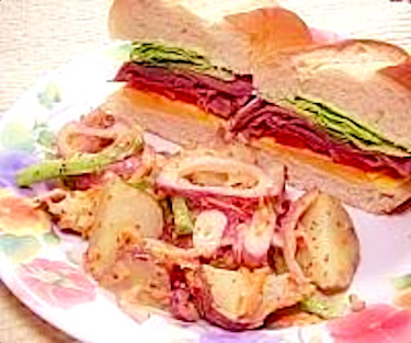 Roast Beef Sandwich and Red Potato Salad