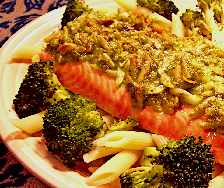 Roasted Salmon with Cilantro Vinaigrette