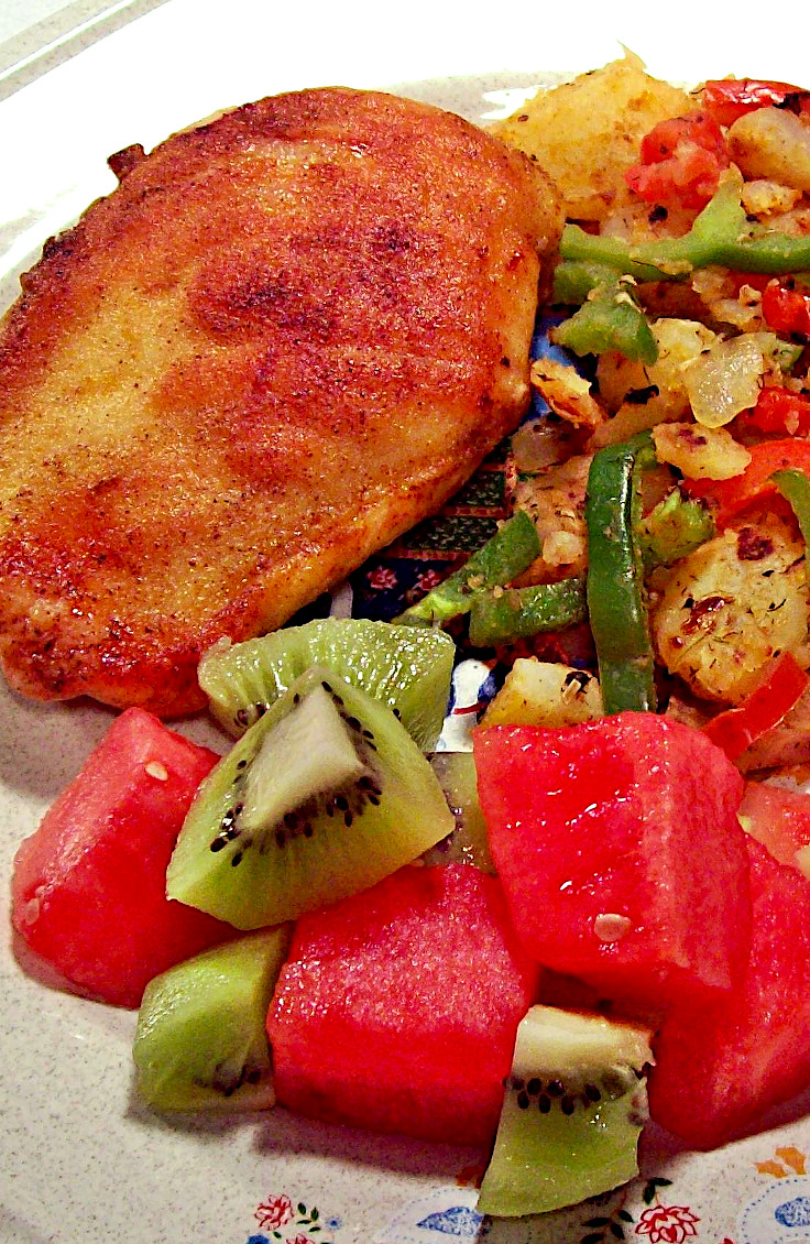 Spicy Fried Chicken with Peppers and Potatoes