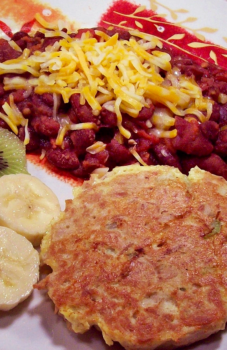 Tuna Cake and Red Beans