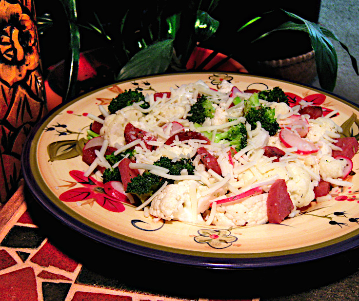 Image of Warm Cauliflower Salad with Salami
