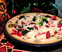 Warm Cauliflower Salad with Salami