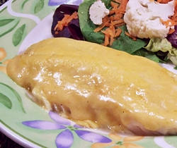 White Fish in Cheese Sauce