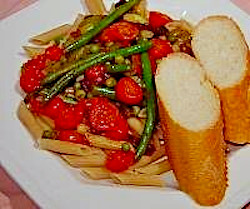 Whole Grain Penne, Vegetables and Sun-dried Tomatoes