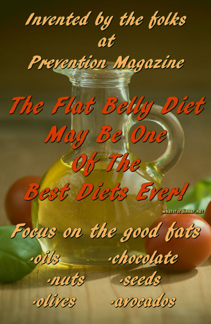 The Flat Belly Diet May Be One Of The Best Diets Ever!