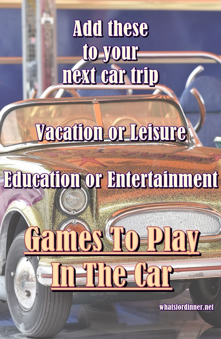 Games To Play In The Car