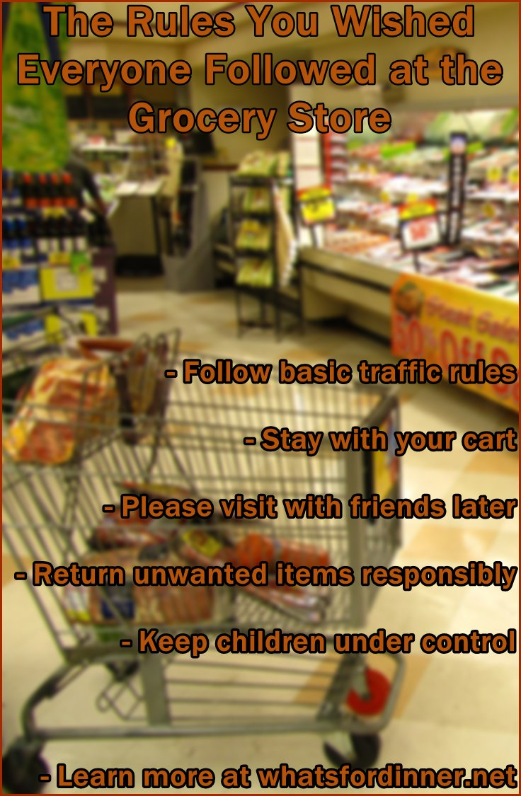 Make grocery shopping less stressful with some common-sense rules of supermarket etiquette.