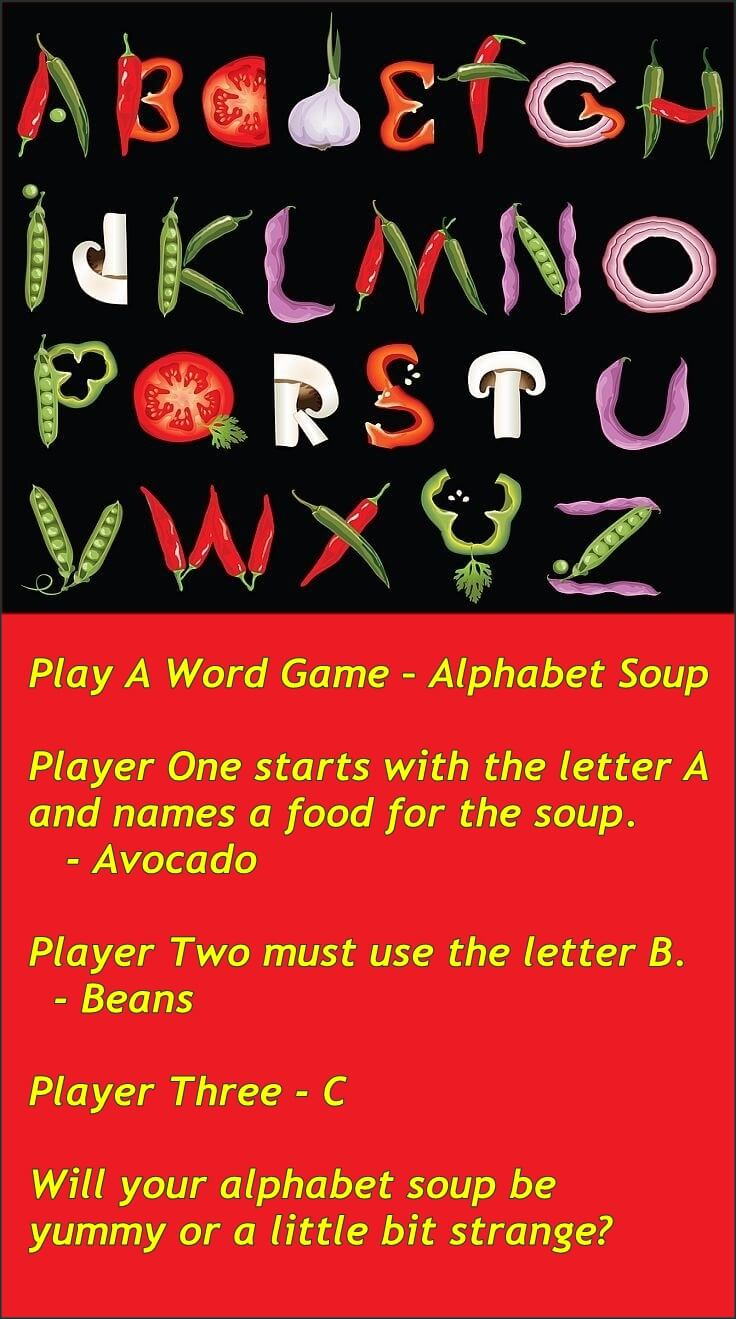 Play A Word Game - Alphabet Soup