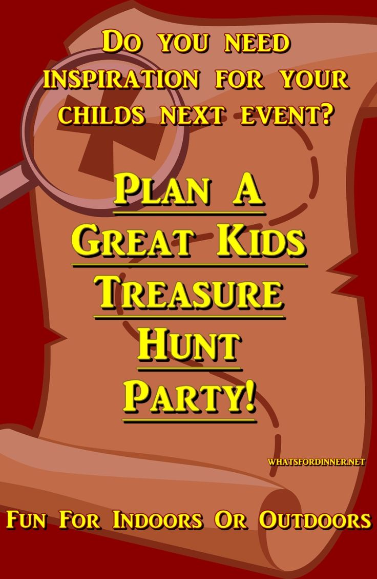 Plan A Great Kids Treasure Hunt Party!