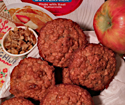 Pancake Mix Applesauce Muffins