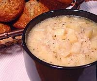 Parmesan Potato Soup with Apple Oatmeal Nut Muffins