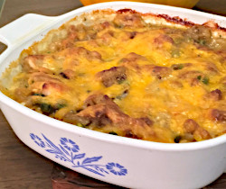 Peas and Cheese Chicken Casserole