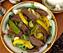 Pepper Steak and Squash