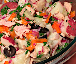 Potato Antipasto Salad with Tuna