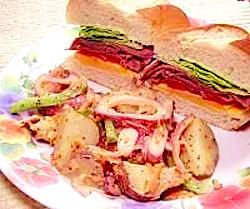 Roast Beef Sandwich and Red Potato Salad