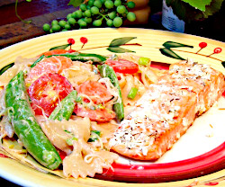 Roasted Salmon with Bow-Tie Pasta Salad