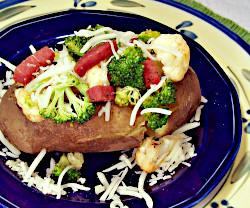 Salami and Cheese Baked Potato