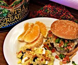 Salsa Smothered Burger