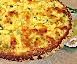 Southwestern Vegetable Quiche