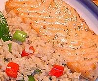 Succulent Baked Salmon with Rice