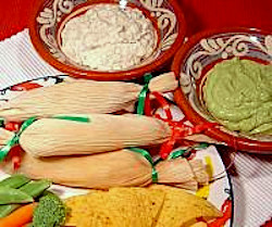 Tamales and Assorted Dips