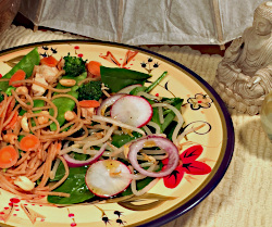 Thai Peanut Chicken with Spinach Salad