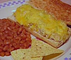 Toasted Chicken Enchilada Sandwich