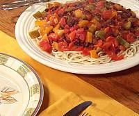 Tomato-Ranch Black Beans and Pasta