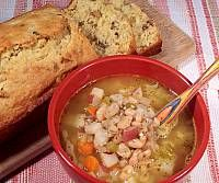 White Bean Soup with Pineapple Nut Bread