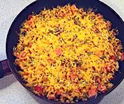 Zesty Ham and Rice Skillet